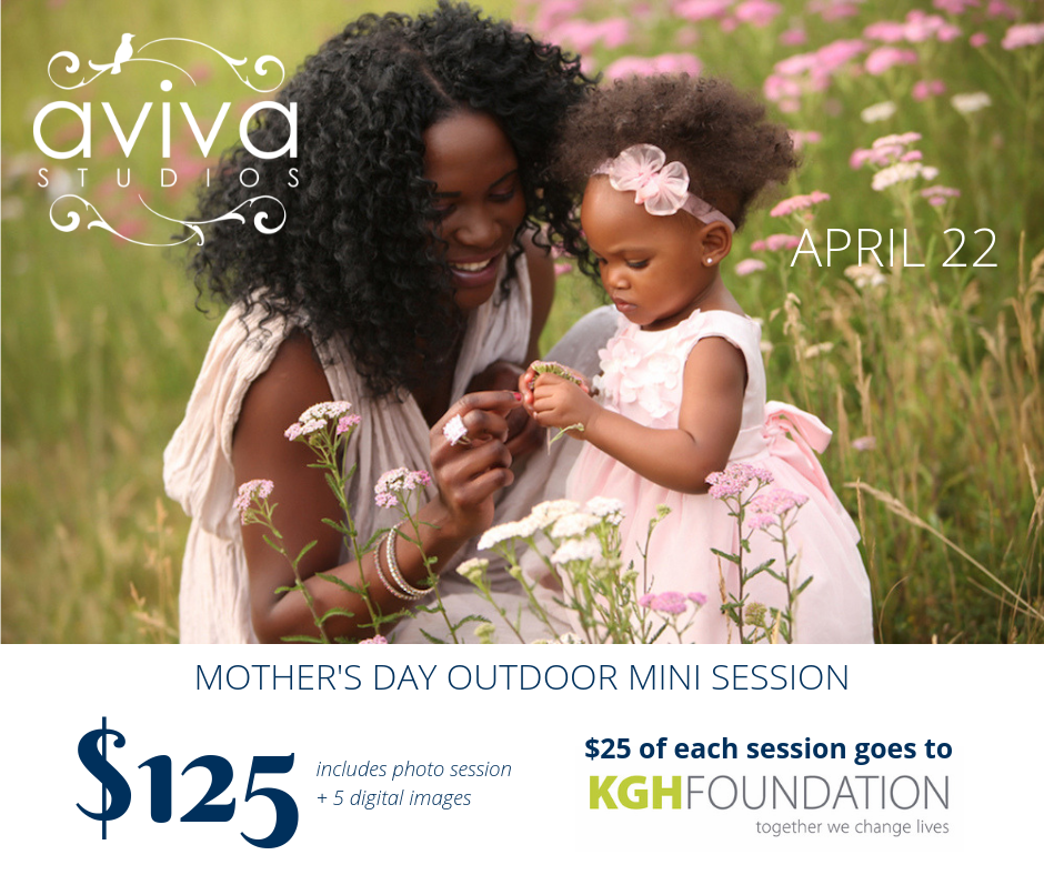 Mother's Day outdoor mini session fundraiser event